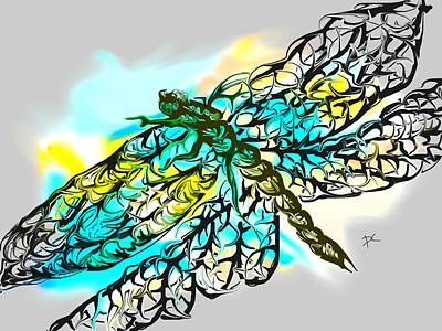 Digital Art - Dragonfly by Darren Cannell