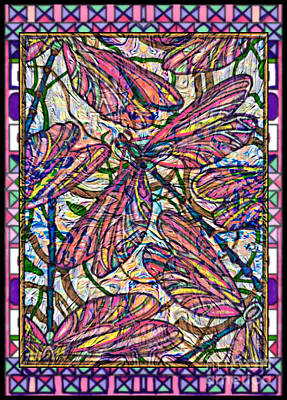Mixed Media Royalty Free Images - Dragonfly Deco Royalty-Free Image by Wbk