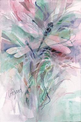 Painting - Dragonfly Duet by Carolyn Utigard Thomas