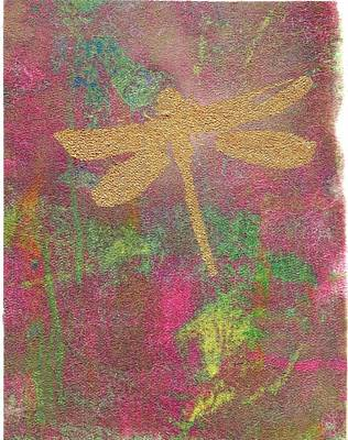 Mixed Media - Dragonfly Energy by Susan Richards