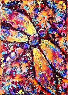 Digital Art - Dragonfly Explosion 1 by Megan Walsh