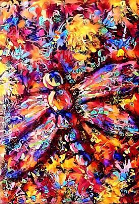 Digital Art - Dragonfly Explosion 2 by Megan Walsh