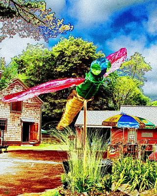 Digital Art - Dragonfly Festival by Cliff Wilson