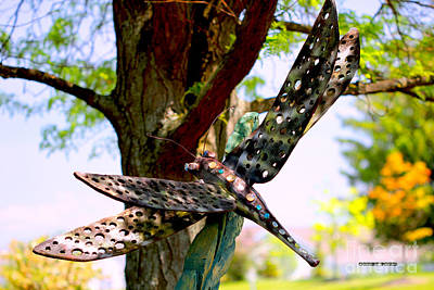 Dragonfly Ornament Painting - Dragonfly Garden Ornament by Corey Ford