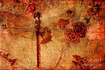 Photograph - Dragonfly - Geisha Style by Kira Bodensted