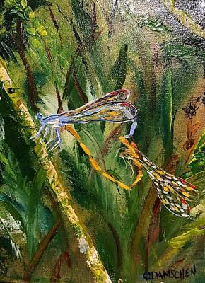 Painting - Dragonfly Heart by Cheryl Damschen