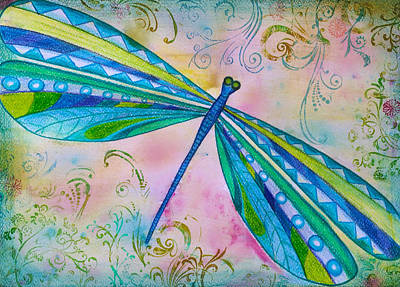 Libellule Painting - Dragonfly II by Sukilopi Art