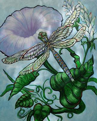 Painting - Dragonfly In Sun by Jeanette Jarmon