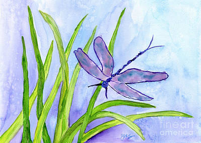 Painting - Dragonfly by Julia Stubbe