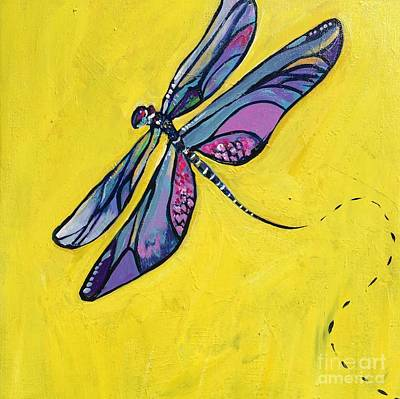 Painting - Dragonfly by Kim Heil