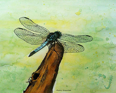Painting - Dragonfly by Mamie Greenfield