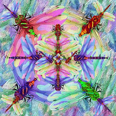 Painting - Dragonfly Mandala by Michele Avanti