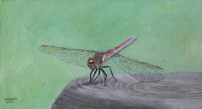 Painting - Dragonfly by Masami Iida