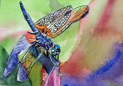 Painting - Dragonfly Of Many Colors by Lynne Atwood