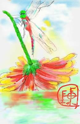 Digital Art - Dragonfly Oh Dragonfly by Debbi Saccomanno Chan