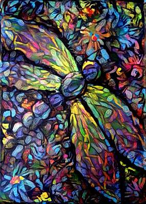 Digital Art - Dragonfly Panel 1 by Megan Walsh