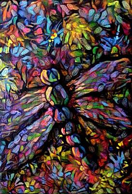 Digital Art - Dragonfly Panel 2 by Megan Walsh