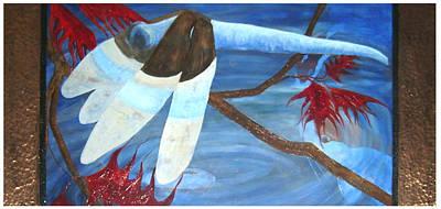 Painting - Dragonfly Pond by Ellen Beauregard