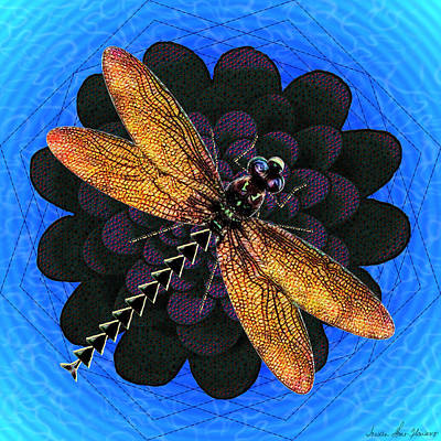 Digital Art - Dragonfly Snookum by Iowan Stone-Flowers