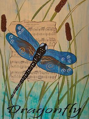 Painting - Dragonfly Song by Cindy Micklos
