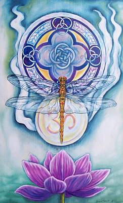 Painting - Dragonfly Spirit by Diana Shively