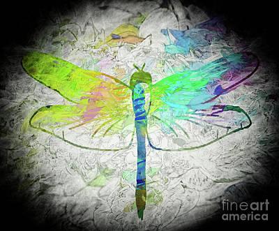 Digital Art - Dragonfly Wisdom by Peggy Gabrielson