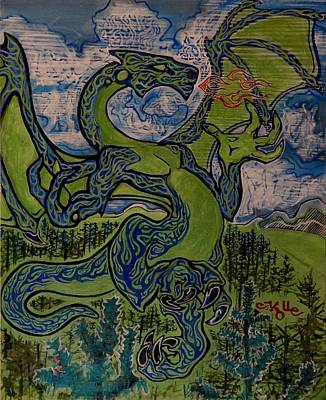 Dragonosity Art Print by Christian Kolle