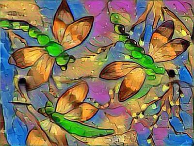 Digital Art - Dragons And Willows 1 by Megan Walsh