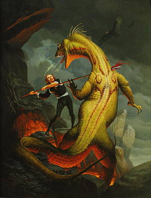 Painting - Dragons Blood by Jim Thiesen