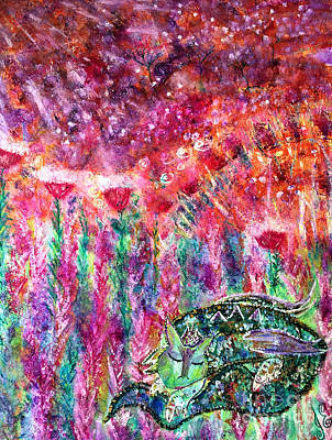 Painting - Dragon's Daydream by Julie Engelhardt