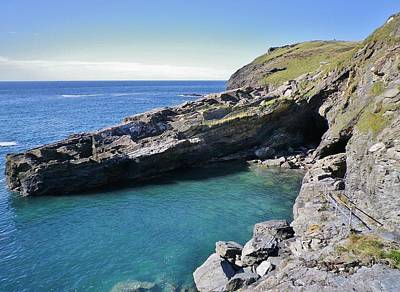 Photograph - Dragon's Foot Cave Tintagel by Richard Brookes