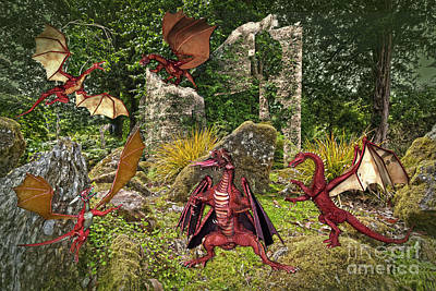 Photograph - Dragons In The Garden by Terri Waters
