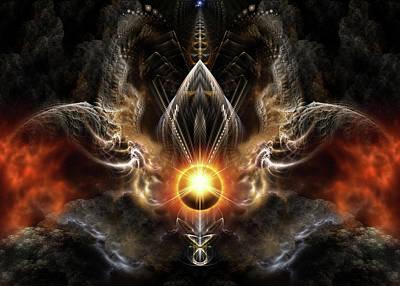 Digital Art - Dragons Light by Xzendor7
