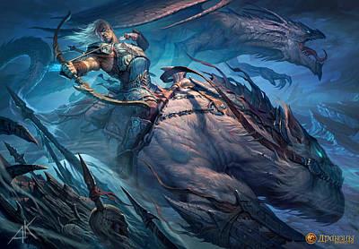 Fractal Digital Art - Dragons Of Eternity by Super Lovely