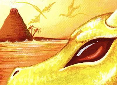 Dragons Of Volcano Island Art Print