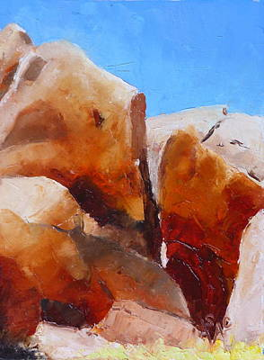 Painting - Dragoon Boulders by Susan Woodward
