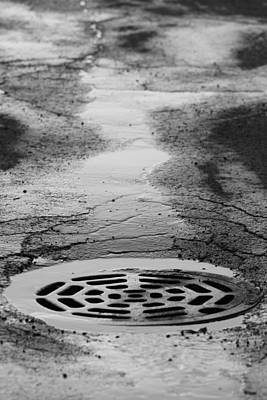 Manhole Photograph - Drained by Lauri Novak