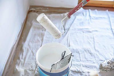 Photograph - Draining Paint Roller by Benny Marty