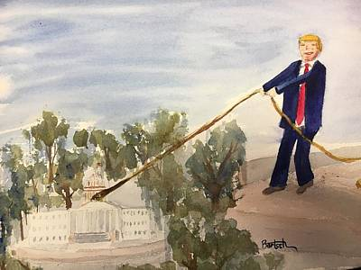 Painting - Draining The Swamp by David Bartsch