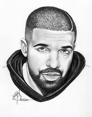 Drake Drawing - Drake by Murphy Elliott
