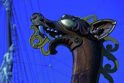 Photograph - Draken Figurehead by Mike Martin