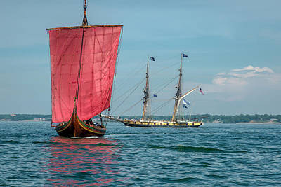 Photograph - Draken Harald Harfage And Us Brig Niagara by Jack R Perry