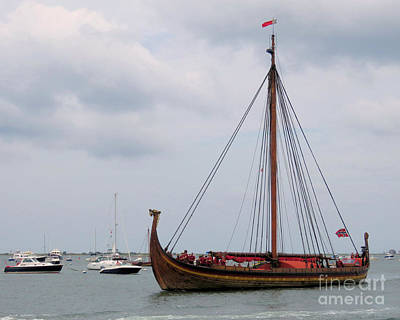 Photograph - Draken In Plymouth Harbor  by Janice Drew