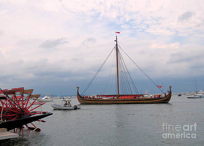 Photograph - Draken Sail In Plymouth Harbor  by Janice Drew