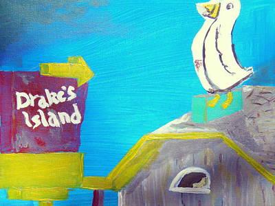 Drake's Island Duck Original by Max Bowermeister