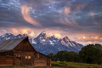 Teton Wall Art - Photograph - Drama In The Skies by Andrew Soundarajan