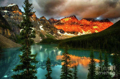 Photograph - Drama Of The Canadian Rockies by Bob Christopher