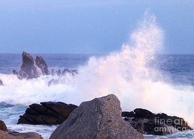 Photograph - Drama Of The Rocky Shore by Barbie Corbett-Newmin