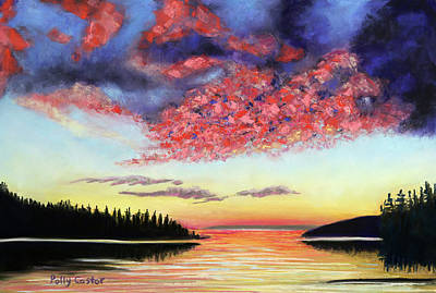 Painting - Drama On Deer Isle by Polly Castor