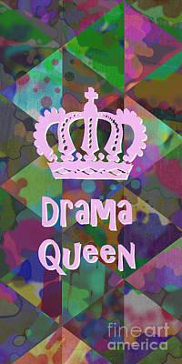 Drama Queen 3 Art Print by Edward Fielding